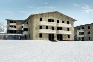 Vizualizace 1. etapy projektu Ski Apartmány Bublava