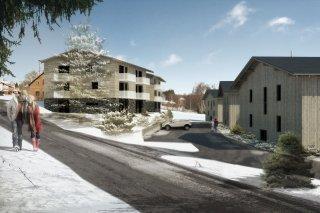 Vizualizace celého komplexu Ski Apartmánů Bublava