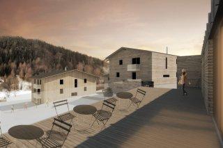 Vizualizace terasy apartmánu na Bublavě