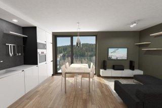 Vizualizace obývacího pokoje Bublava