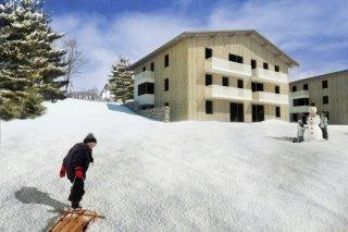 Vizualizace horských apartmánů Bublava