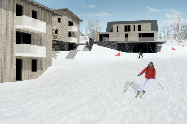 Vizualizace apartmánů Bublava u lyžařské sjezdovky
